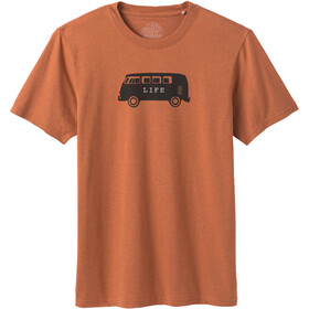 Prana Will Travel Journeyman SS T-Shirt Men russet heather